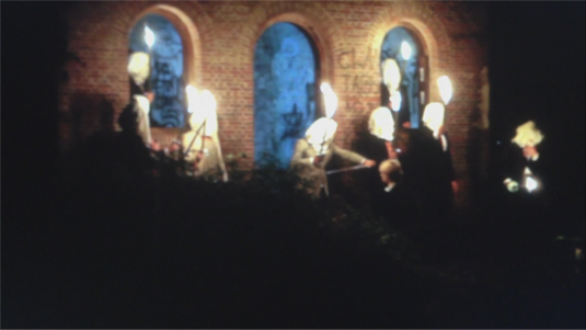 A still from a video of a frightening Filius Septimus ritual.